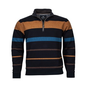 Sweater Marine Tabac Streep