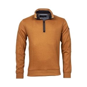 Sweater Mosterd Blokjes Motief