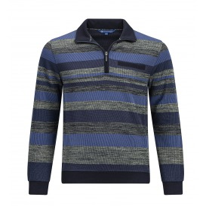 Sweater Streep Indigo Groen Melee