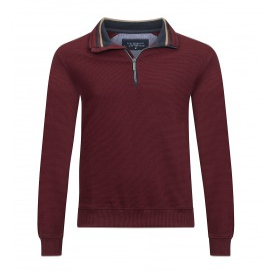 Sweater Bordeaux Marine Streepstructuur