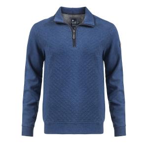 Trui Jeansblauw-Marine Rits