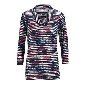 Shirt Zwart-Roze Streep