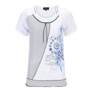 Shirt Ausbrenner Wit-Marine Koordje
