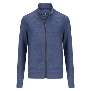 Vest Jeansblauw Rits Streepjesmotief