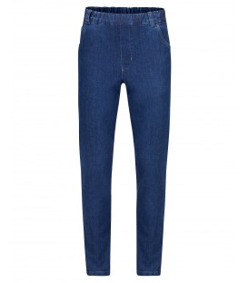 Herenpantalon Elastiek Jeans Winter Blauw
