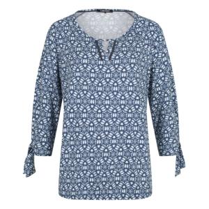 Blouson Jeansblauw-Wit Grafisch