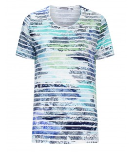Shirt Marine-Aquatinten Streep