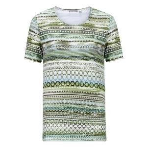 Shirt Groen-Wit Grafisch