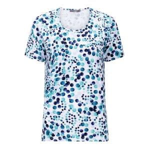 Shirt Marine-Smaragd Nopjes