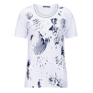 Shirt Wit-Marine Schelp