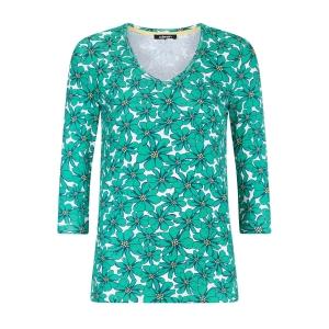 Shirt Green-Geel Bloem