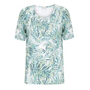 Shirt Zeegroen-Geel Bladmotief
