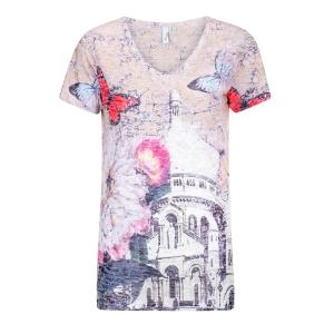 Shirt Zand-Rood Vlinder