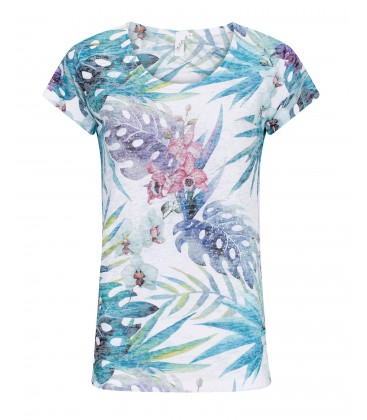 Shirt Turquoise-Off White Strass