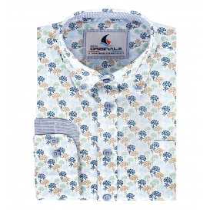 Overhemd Groen Zand-Bloem LM
