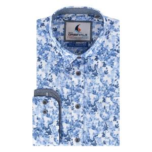 Overhemd Defts Blauw-Bloemetje LM