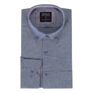Overhemd Jeansblauw
