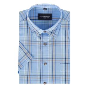 Overhemd Blauw-Brique Streep