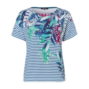 Shirt Jeansblauw-Grijs Varenblad