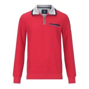 Sweater Steenrood-Grijs Structuur