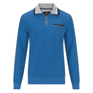 Sweater Jeansblauw-Grijs Structuur