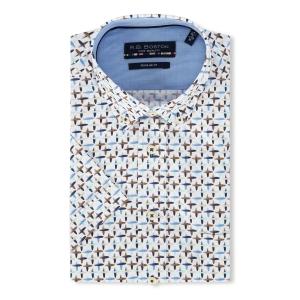 Overhemd Marine Bruin-Motiefje KM