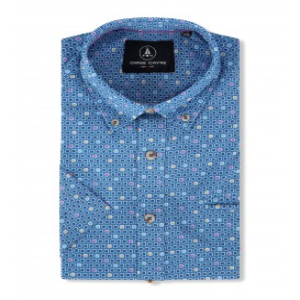 Overhemd Blue Lila-Vlakje KM