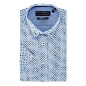 Overhemd Lichtblauw marine-Nopje KM