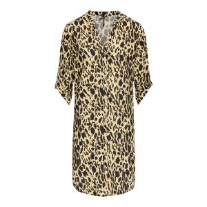 Tuniek Citroengeel-Zwart Cheetah