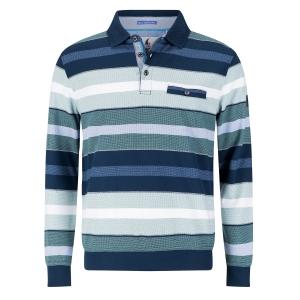 Sweater Marine-Groen Streep