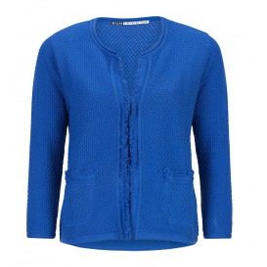Vest Korenblauw Franje