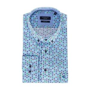 Overhemd Mintgroen-Groen Bolletje