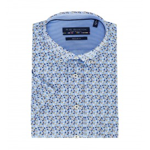Overhemd Blue Taupe-Driehoekje KM