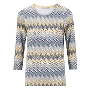 Shirt Grijs Mimosa-Zigzag