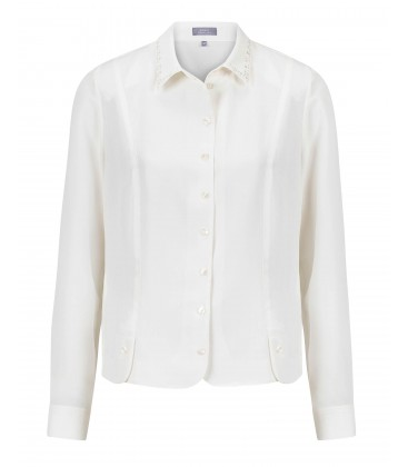 Blouse Off White-Uni Kort