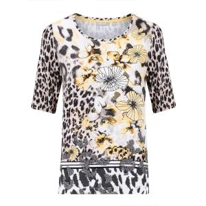 T-shirt Zwart Bisquit Mimosa-Bloem