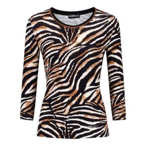 Shirt Zwart Camel-Dierenprint
