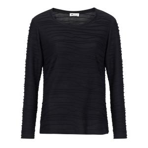 Shirt Zwart-Ribbel