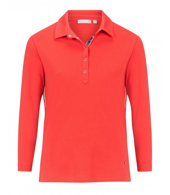 Poloshirt Burnt Orange-Zijband