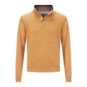 Sweater Mosterd Marine-Structuur Bies