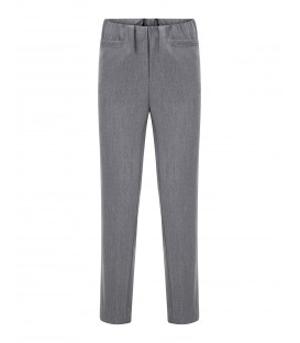 Damespantalon Slim Fit Grijs Melee Kort