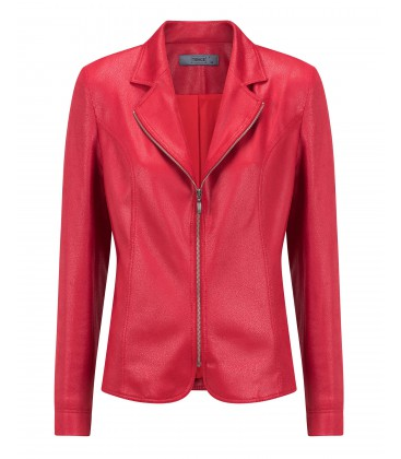 Blazer Rood-Leatherlook