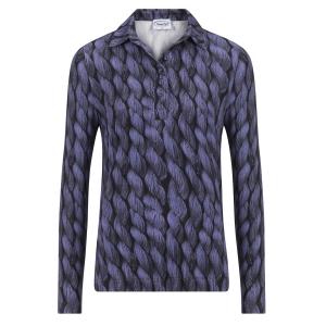 Poloshirt Paars-Kabel Patroon