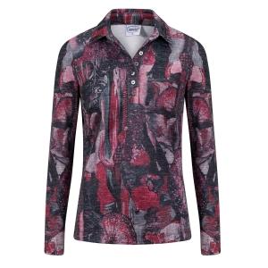 Poloshirt Cyclaam-Grijs Dessin
