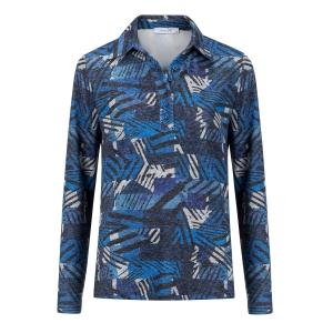 Poloshirt Grijs Kobalt-Grafisch