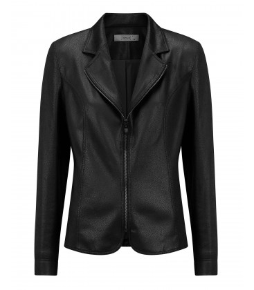 Blazer Zwart -Leatherlook