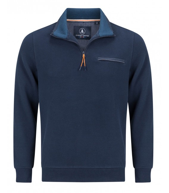 Polosweater Marine Rits
