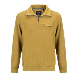 Sweater Mosterdgeel Rits