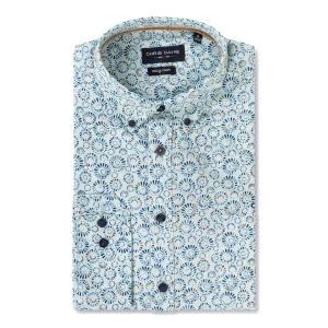 Overhemd Lindegroen Blue-Cirkels LM