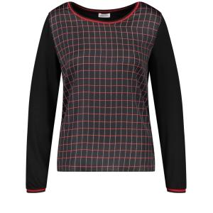 Shirt Zwart-Rood Ruit